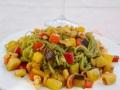 Spaghetti Shirataki agli Spinaci con dadolata di verdure e noci