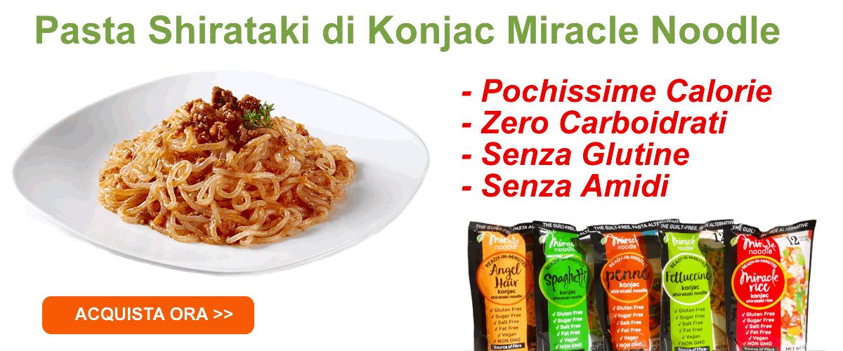 Spaghetti di Glucomannano con caratteristiche